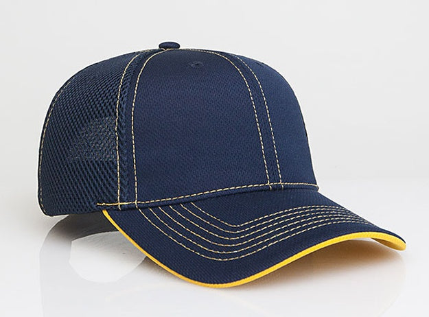 Custom Embroidered Pacific Headwear 355M Soft Trucker Mesh Hook-and-Loop Hat