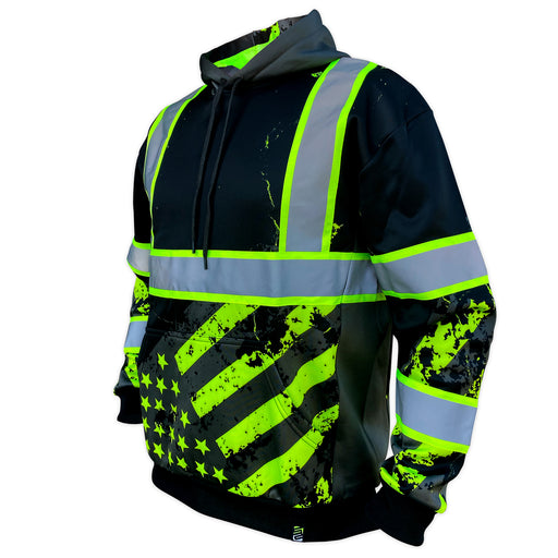 SafetyShirtz - SS360º Enhanced Visibility American Grit Stealth Safety Hoodie
