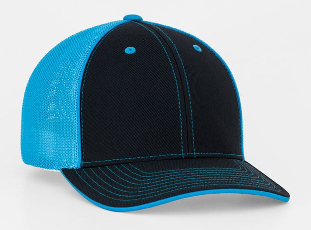 Custom Embroidered Pacific Headwear 404M Trucker Flexfit Hat