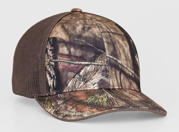 Custom Embroidered Pacific Headwear 694M Mossy Oak® Trucker Mesh Stretch-Fit Hat