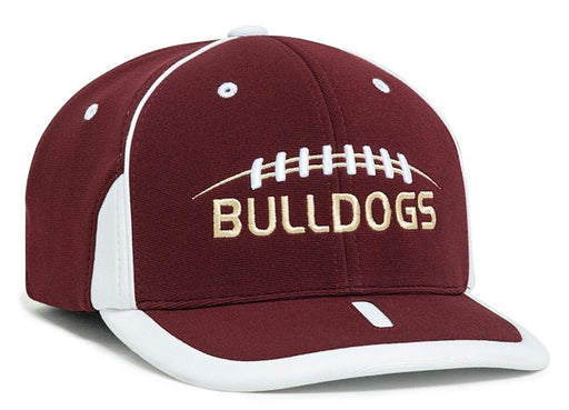 Sample Image Color Maroon/White - Pacific Headwear 698F M2 Performance Flexfit Hat
