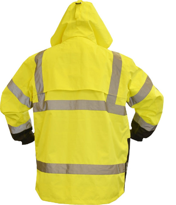 Safety Jacket Majestic 75-1307 CL3 Hi Vis Yellow Parka with Black Bottom: Global Construction Supply