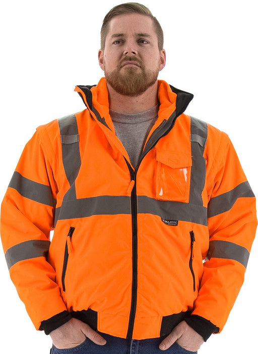 Safety Jacket Majestic 75-1382 CL3 Hi Vis Orange Transformer Jacket: Global Construction Supply