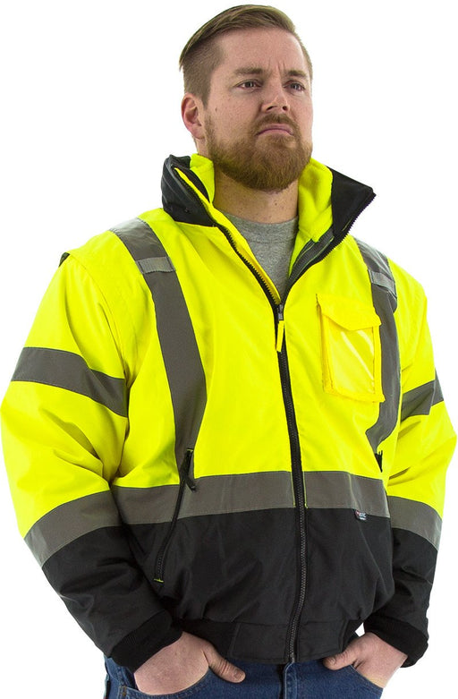 Safety Jacket Majestic 75-1383 CL3 Hi Vis Yellow Transformer Jacket: Global Construction Supply