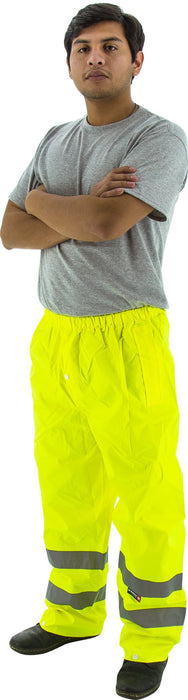 Majestic 75-2351 Hi Vis Yellow Trousers ANSI Class E Unlined: Global Construction Supply