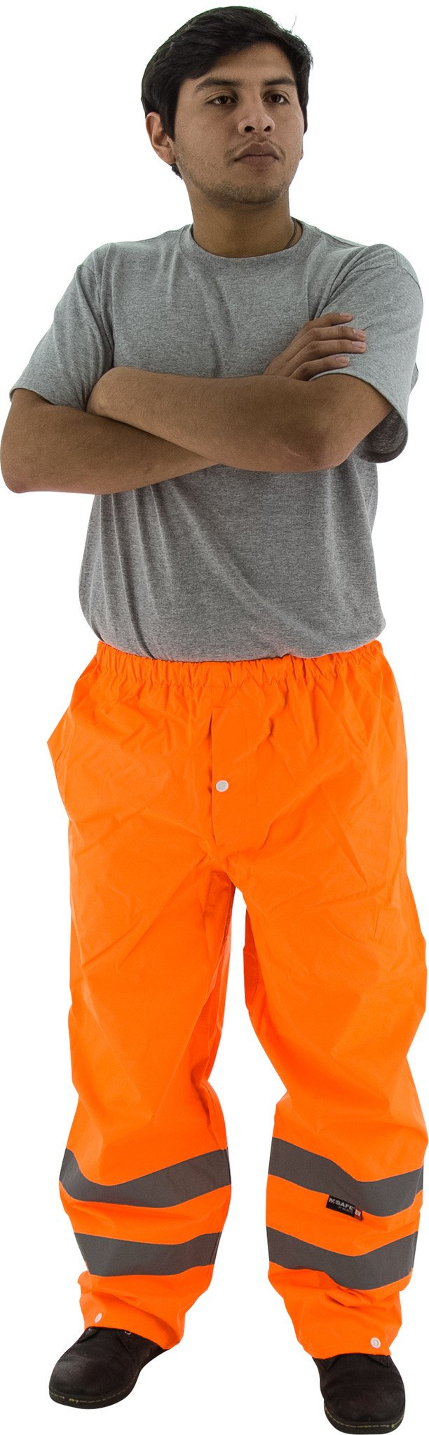 Majestic 75-2352 Hi Vis Orange Trousers ANSI Class E Unlined: Global Construction Supply