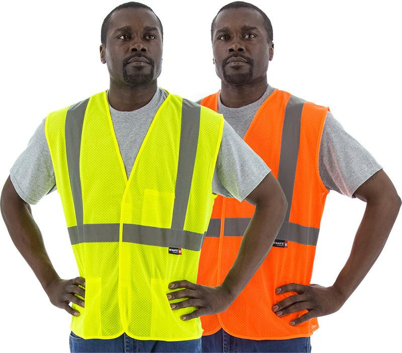Safety Vest Majestic 75-3203 CL2 Hi Vis Mesh Safety Vest: Global Construction Supply