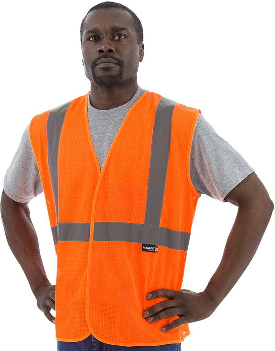Safety Vest Majestic 75-3204 CL2 Hi Vis Mesh Safety Vest: Global Construction Supply