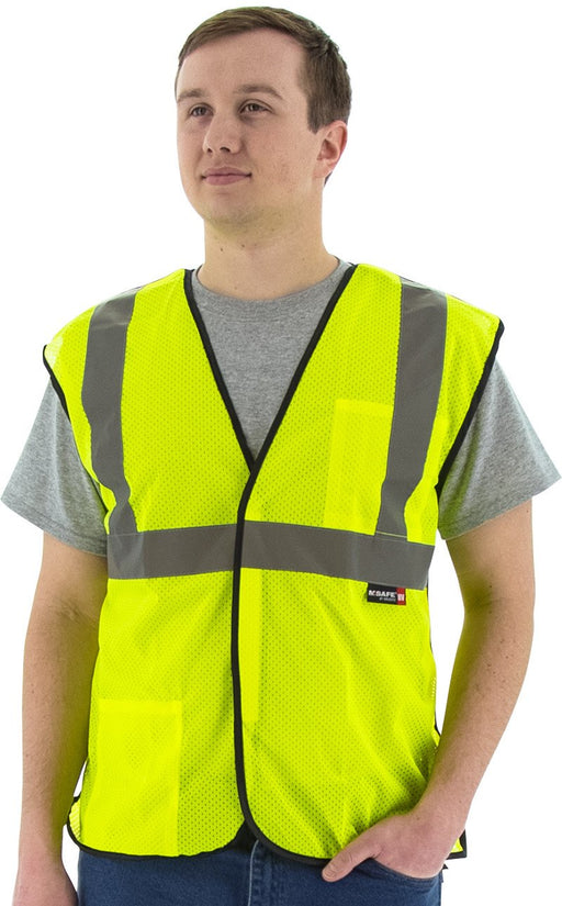 Safety Vest Majestic 75-3205 CL2 5-pt Breakaway Vest: Global Construction Supply