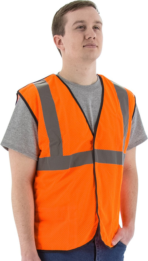 Safety Vest Majestic 75-3206 CL2 5-pt Breakaway Vest: Global Construction Supply
