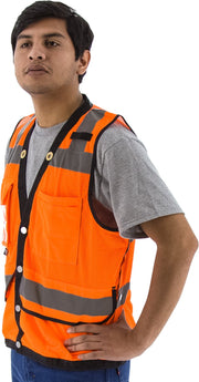 Safety Vest Majestic 75-3208 CL2 Hi Vis Surveyor's Vest: Global Construction Supply