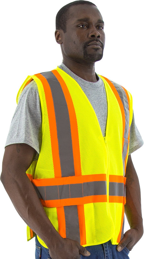 Safety Vest Majestic 75-3215 CL2 Hi Vis Safety Vest: Global Construction Supply