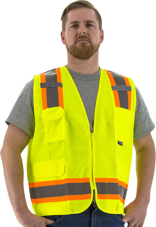 Safety Vest Majestic 75-3221 CL2 Hi Vis Surveyor Vest: Global Construction Supply