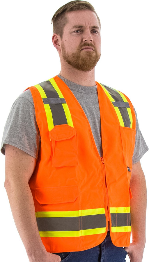 Safety Vest Majestic 75-3222 CL2 Hi Vis Surveyor Vest: Global Construction Supply