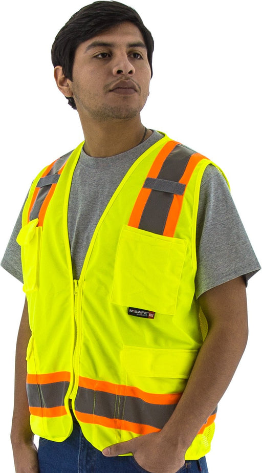 Safety Vest Majestic 75-3223 CL2 Hi Vis Surveyor Vest: Global Construction Supply
