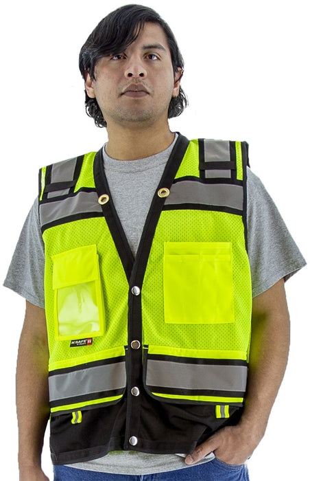 Safety Vest Majestic 75-3237 CL2 Hi Vis Surveyor's Vest