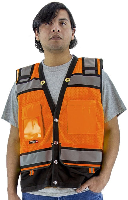 Safety Vest Majestic 75-3238 CL2 Hi Vis Surveyor's Vest