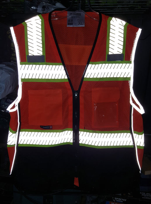 Safety Vest Majestic 75-3240 CL2 Hi Vis Vest with Black: Global Construction Supply