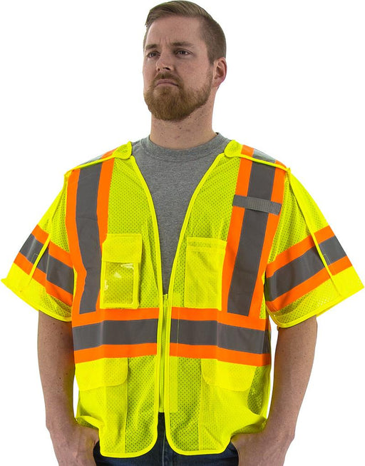 Safety Vest Majestic 75-3305 CL3 Hi Vis Breakaway Vest: Global Construction Supply