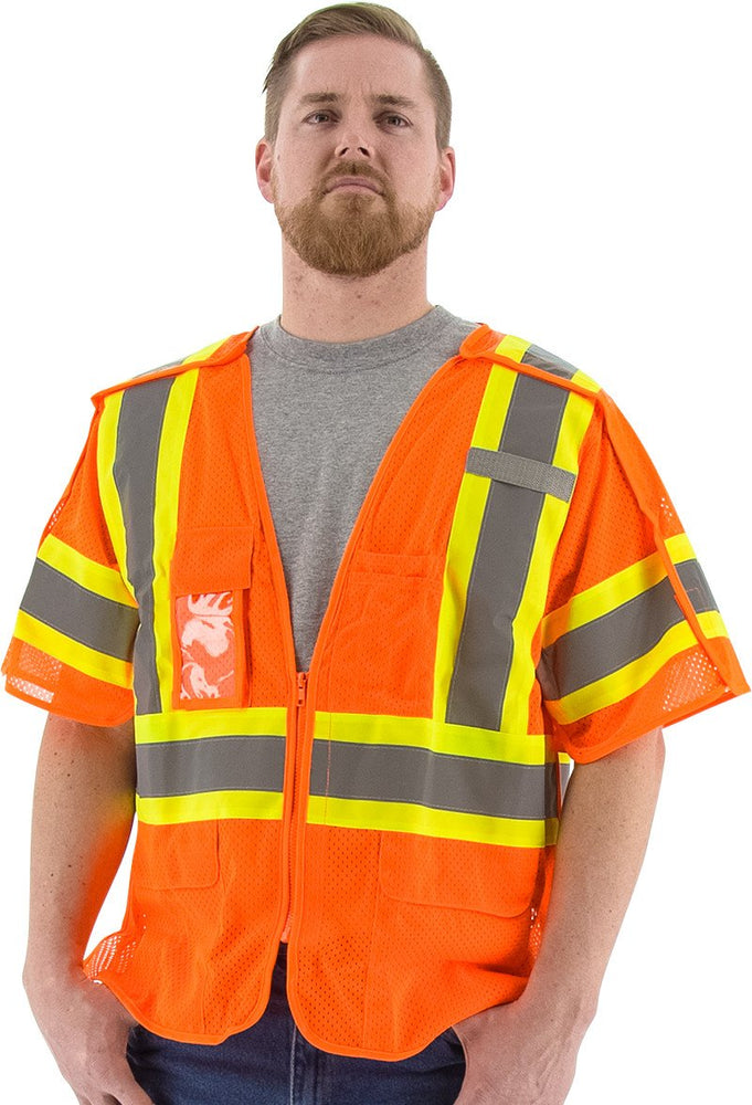 Safety Vest majestic 75-3306 CL3 Breakaway Safety Vest: Global Construction Supply