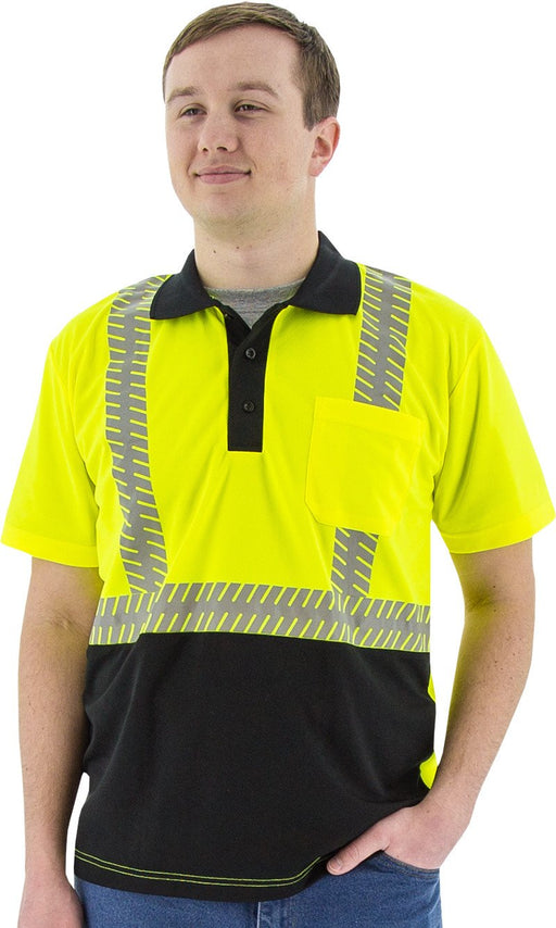 Safety Shirt Majestic 75-5213 Hi Vis CL2 Safety Polo: Global Construction Supply