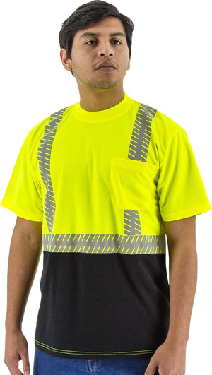 Safety Shirt Majestic 75-5215 Hi Vis CL2 Safety T-Shirt