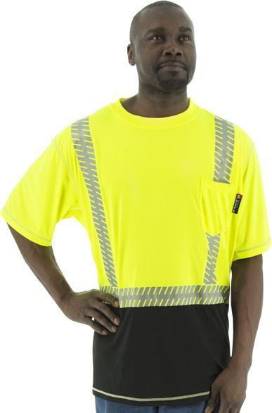 Safety Shirt Majestic 75-5217 Hi Vis Snag Resistant CL2 Safety T-Shirt: Global Construction Supply