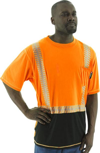 Safety Shirt Majestic 75-5218 Hi Vis Snag Resistant CL2 Safety T-Shirt: Global Construction Supply