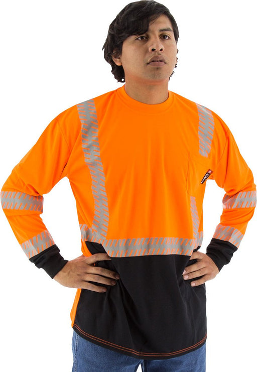Safety Shirt Majestic 75-5258 Hi Vis CL2 Long Sleeve Shirt: Global Construction Supply