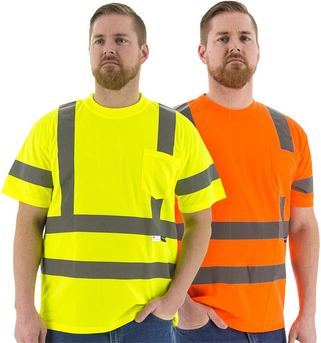 Safety Shirt Majestic 75-5305 Hi Vis CL3 Safety T-Shirt: Global Construction Supply