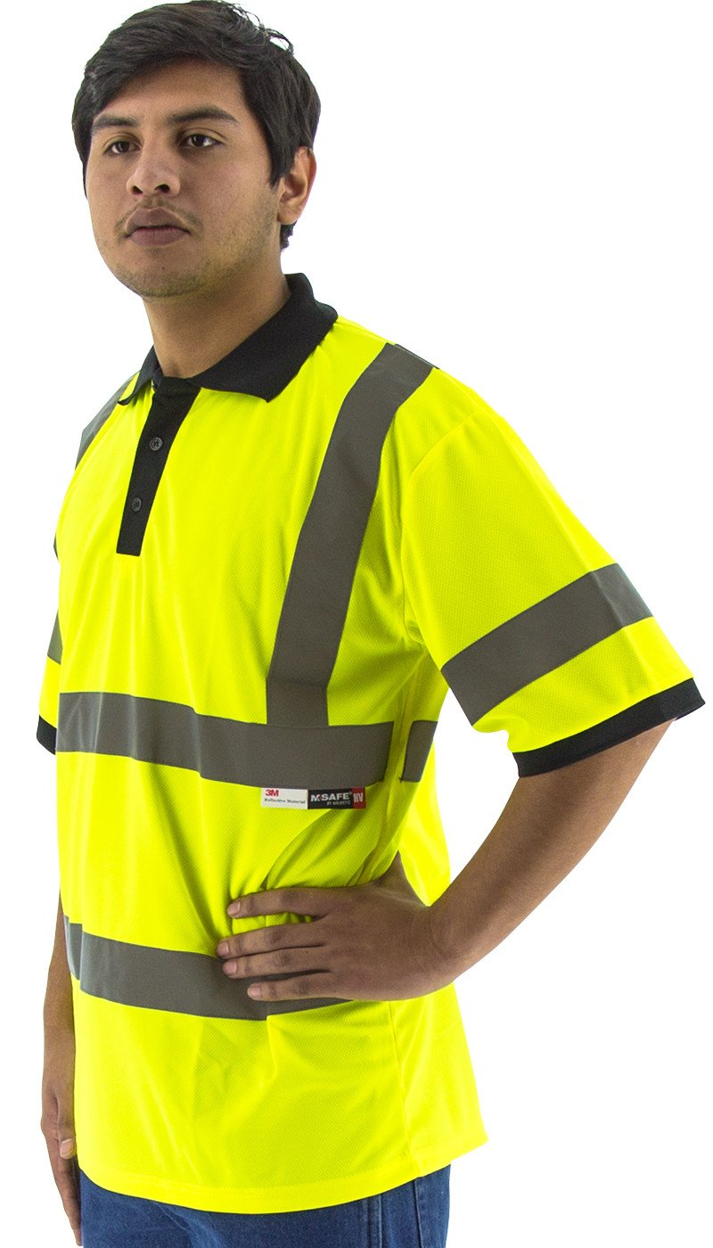 Safety Shirt Majestic 75 5311 Hi Vis Cl3 Safety Polo Global