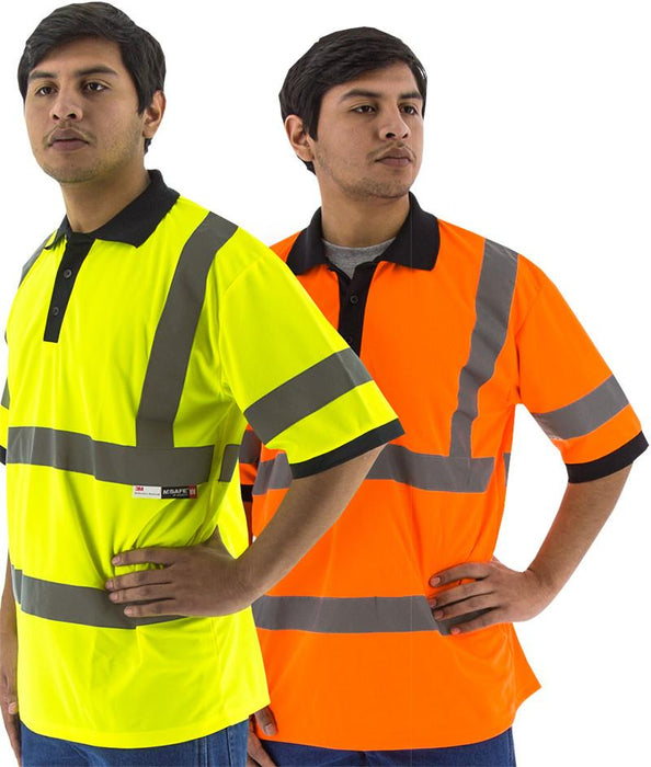 Safety Shirt Majestic 75-5312 Hi Vis CL3 Safety Polo: Global Construction Supply
