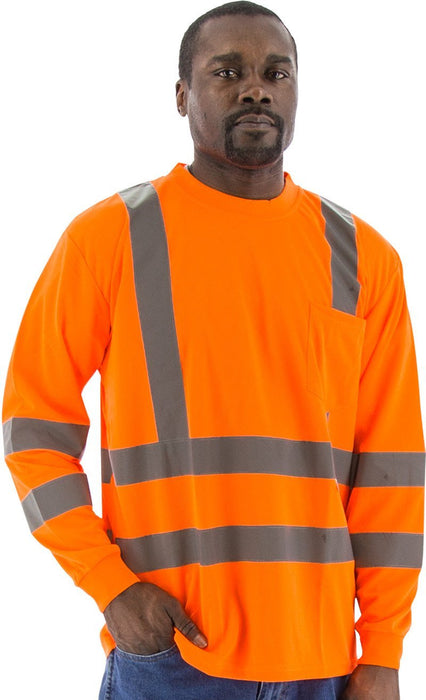 Safety Shirt Majestic 75-5356 Hi Vis CL3 Long Sleeve Shirt: Global Construction Supply