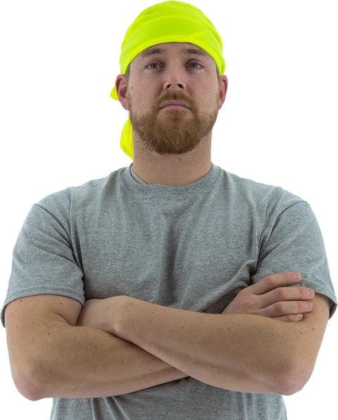 75-8051 High Visibility Yellow Cooling Bandana by Majestic - Global Construction Supply