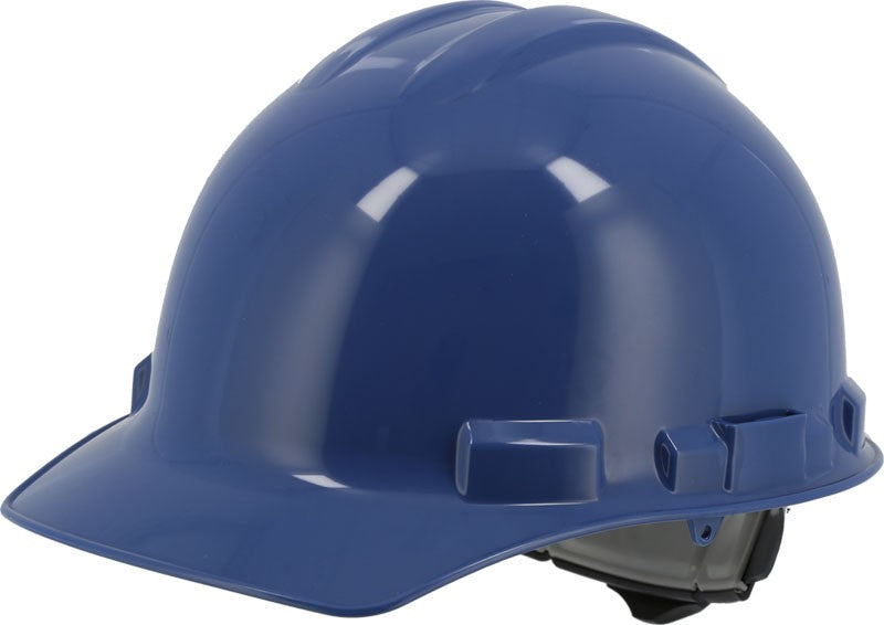 Blue Majestic 87-1155 Cap Style Hard Hat with 6 Point Ratchet Suspension