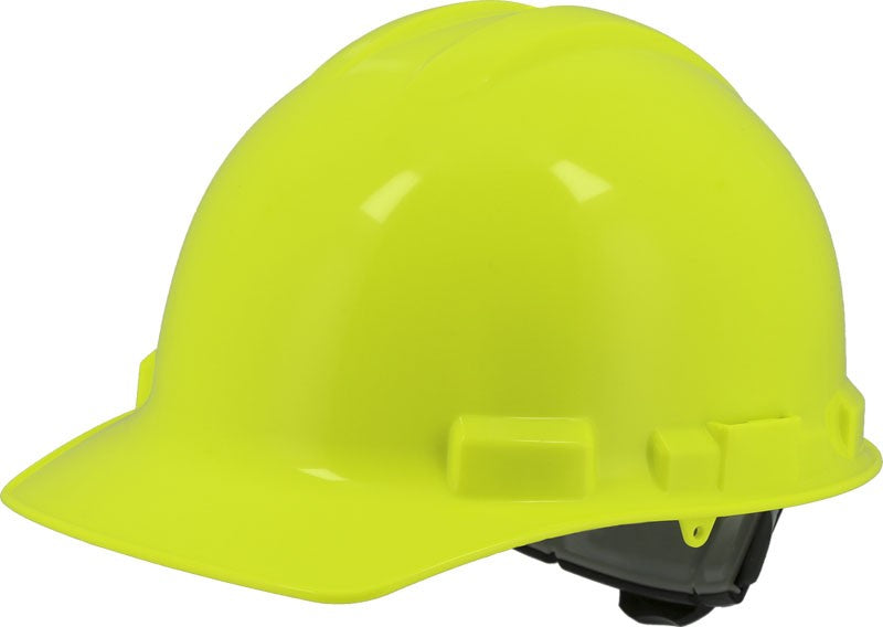 Hi-Viz Yellow Majestic 87-1155 Cap Style Hard Hat with 6 Point Ratchet Suspension
