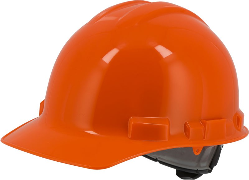 Orange Majestic 87-1155 Cap Style Hard Hat with 6 Point Ratchet Suspension