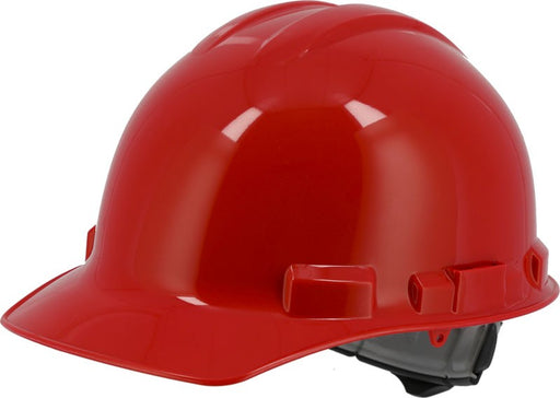 Red Majestic 87-1155 Cap Style Hard Hat with 6 Point Ratchet Suspension