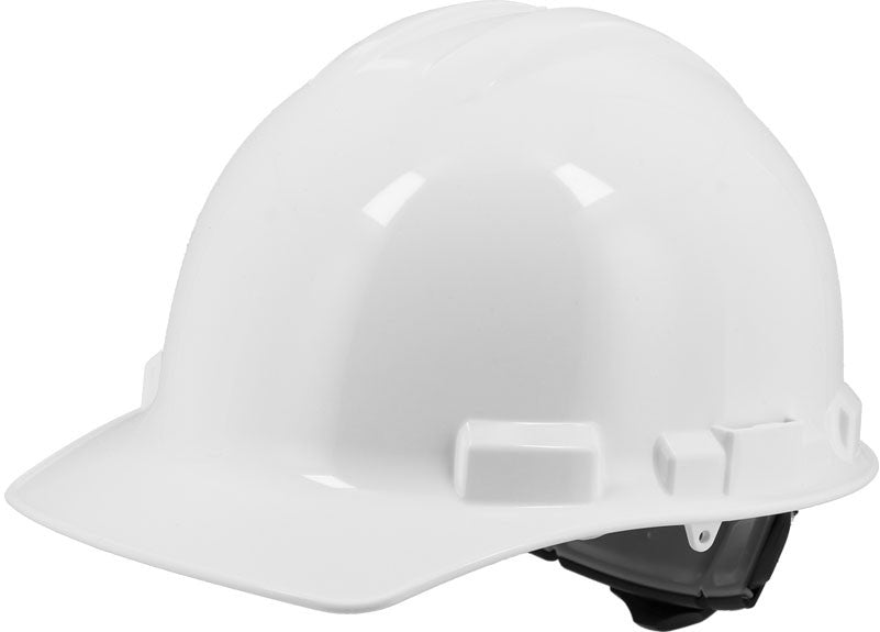 White Majestic 87-1155 Cap Style Hard Hat with 6 Point Ratchet Suspension