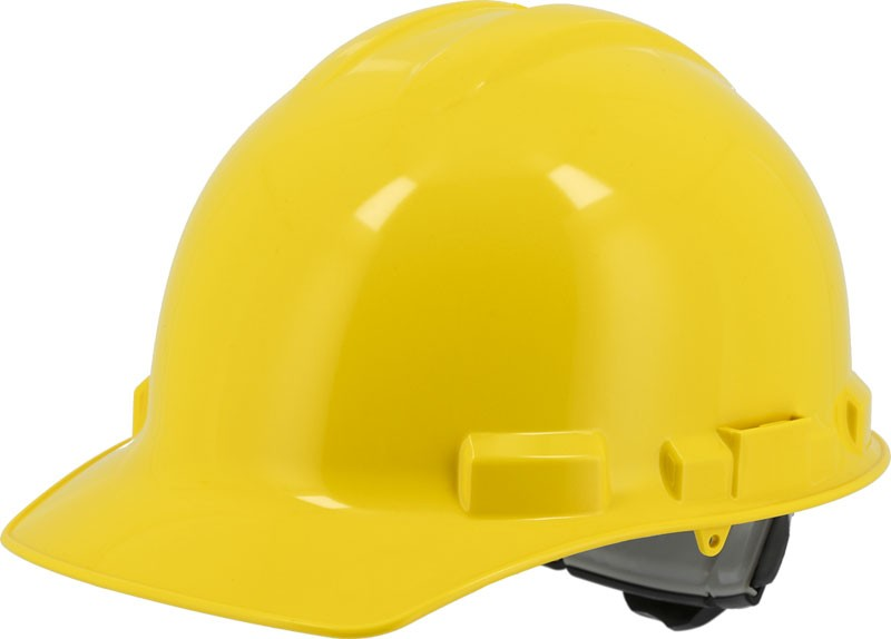 Yellow Majestic 87-1155 Cap Style Hard Hat with 6 Point Ratchet Suspension