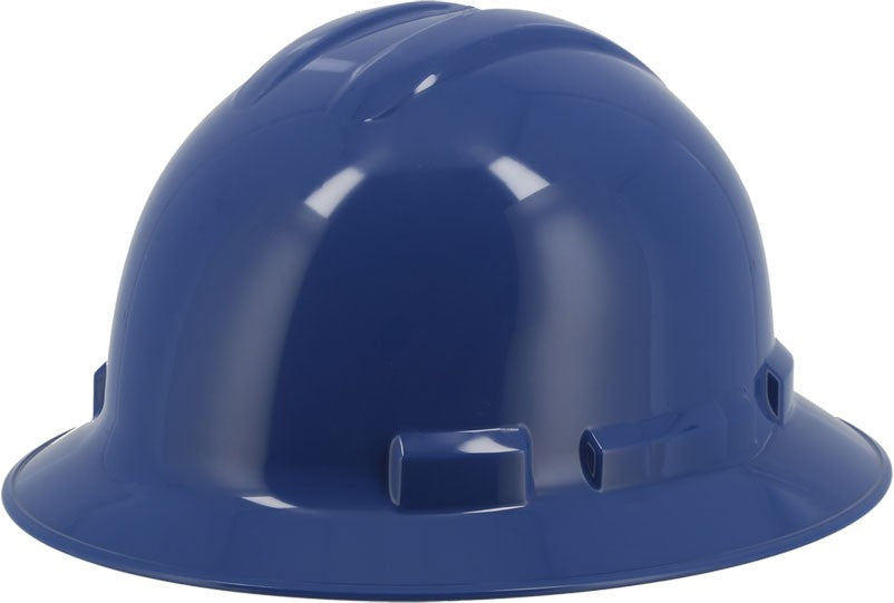 Blue Majestic 87-1255 Full Brim Hard Hat with 6 Point Ratchet Suspension