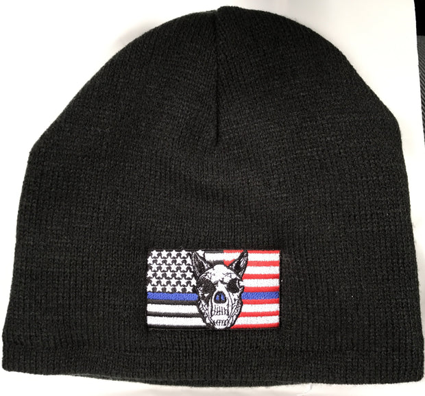 K9HPP PRE-ORDER The K9 Hero Portrait Project K-9 Flag Fleece Lined Beanie - Global Construction Supply