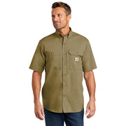 Carhartt Force ® Ridgefield Solid Short Sleeve Shirt CT102417 - Dark Khaki