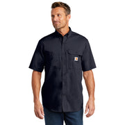 Carhartt Force ® Ridgefield Solid Short Sleeve Shirt CT102417 - Navy
