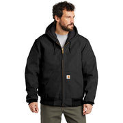 Carhartt ® Tall Quilted-Flannel-Lined Duck Active Jac CTTSJ140 - Black