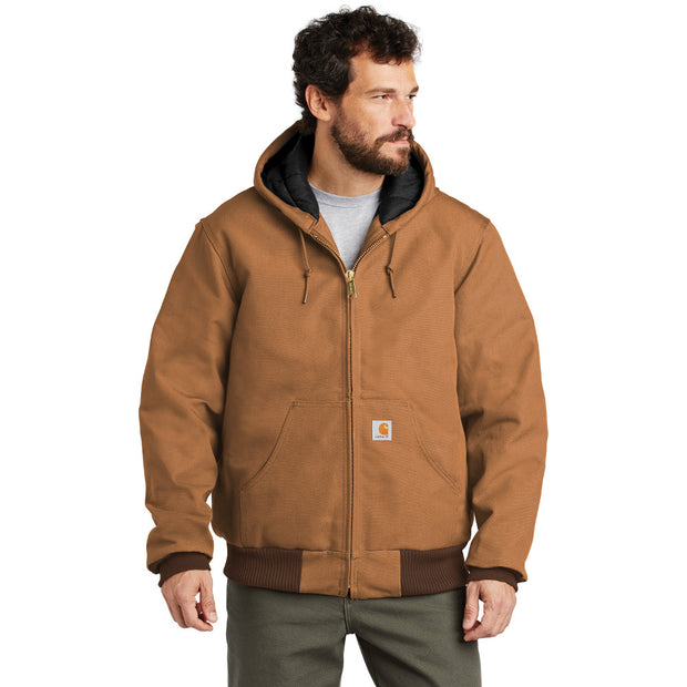 Carhartt ® Tall Quilted-Flannel-Lined Duck Active Jac CTTSJ140 - Carhartt Brown