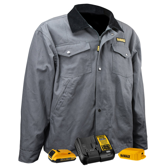 Charcoal DeWALT DCHJ083 Heated Barn Coat