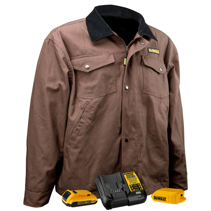 Tobacco DeWALT DCHJ083 Heated Barn Coat
