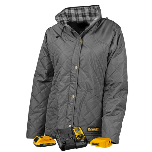 DeWALT DCHJ084 Heated Women's Flannel Lined Quilted Jacket
