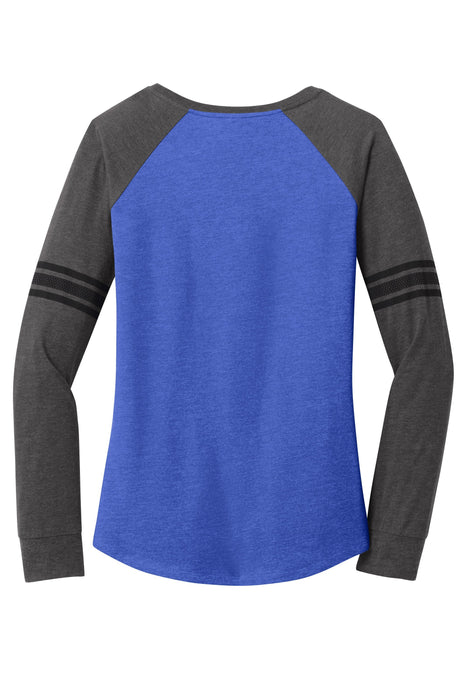 District Made® Ladies Game Day Long Sleeve V-Neck Tee. - Global Construction Supply